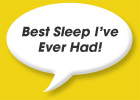 Best sleep I ever had!